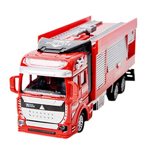 FIged Kids Toys, Pull Back Mini Engineering Truck Model Inertia Car Construction Vehicles Friction Powered for Children Toddlers Kids Birthday Gift