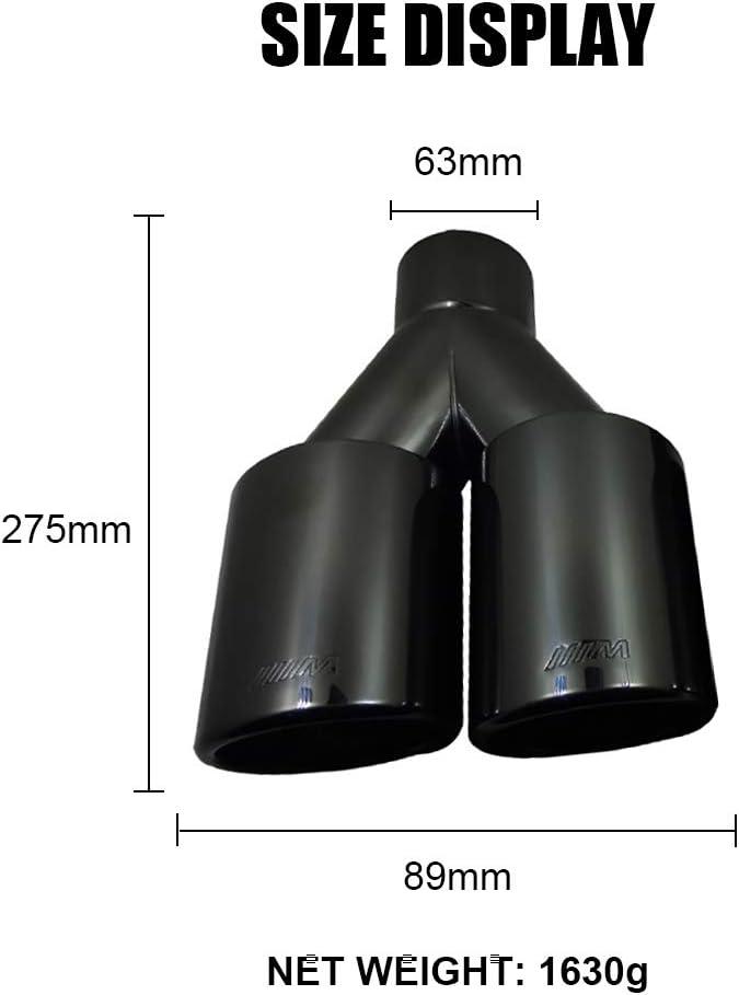 adapt/é pour BMW 63mm Double Sortie d/échappement Universel d/écoration Sortie Gorge Super-ZS Silencieux d/échappement en Acier Inoxydable