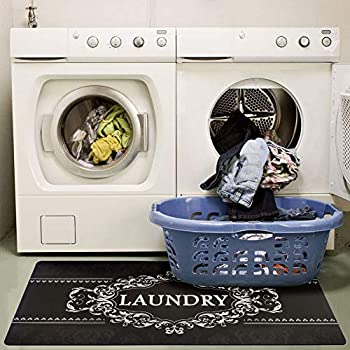 Amazon Com Ustide Laundry Rug Runner Blackish Mocha