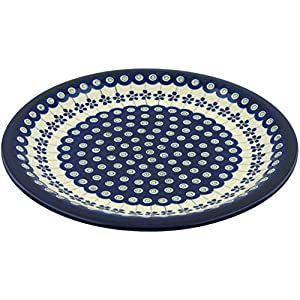Polish Pottery Dinner Plate 11-inch Flowering Peacock