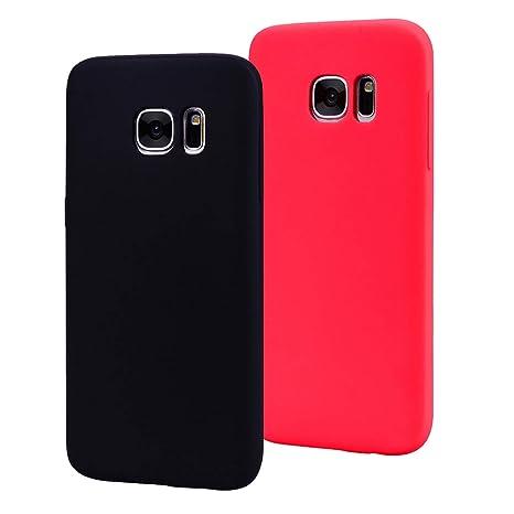 EuCase 2X Funda para Samsung Galaxy S7 Edge Silicona Carcasa ...
