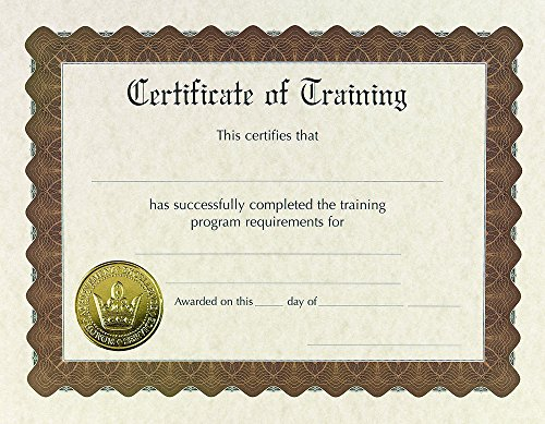 Great Papers! Training Stock Pre-Printed Gold Foil and Embossed Certificate, 8.5