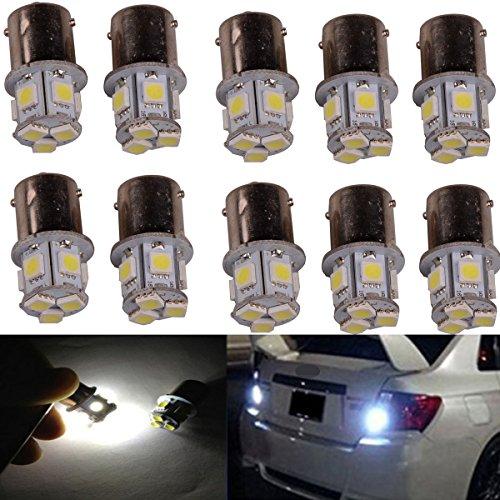 ABy 10PCS White 1156 5050 8SMD LED Replacement Bulb For Turn Signal Light,Reverse Light, Brake Light, Running Light, Tail Light, Corner Light,Parking Light, Side Marker Lights ()