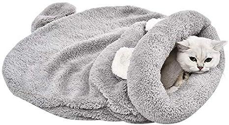 YGJT Cama para Gatos/Perro Pequeño Cojín Dormir Cesta Mascotas 60x58cm (Gris)
