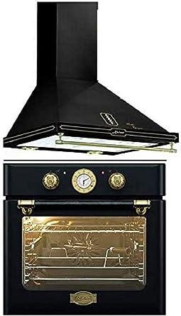 Kaiser EH 6424 Be Retro A 6416 Be - Horno de cocina (60 cm, 8 funciones, sistema de limpieza automático, iluminación y campana de chimenea): Amazon.es: Grandes electrodomésticos