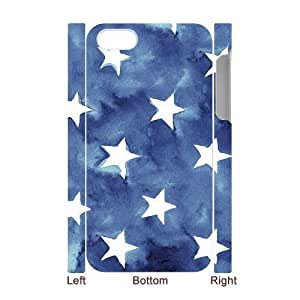 3D iPhone 4/4s Case, Abstract Watercolor Hard Case For iPhone 4/4s(White) Yearinspace061604