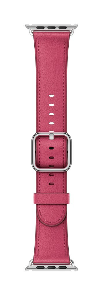 Apple 42mm Classic Buckle Smartwatch Replacement Band for Watch Series 1, Watch Series 2, Watch Series 3 - Pink Fuchsia