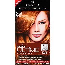 Schwarzkopf Ultime Hair Color Cream, Light Copper Red, 8.4, 2.03 Ounces