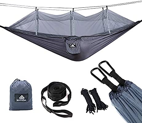 Ultra Light Travel Camping Hammock Breathable Quick Drying Parachute Army-green