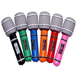 TINKSKY Microphone Mic Karaoke 6pcs Plastic Toy Microphone 24CM for Kids(Random Color)