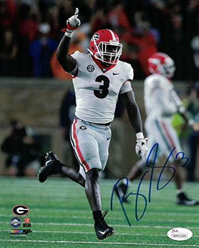 1831514836c Roquan Smith Autographed/Signed Georgia Bulldogs 8x10 Photo JSA at ...