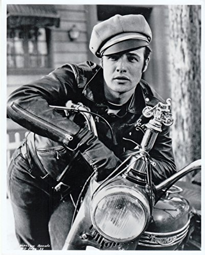 (Marlon Brando On Triumph Motorcycle Vintage Old Photo 8 x 10)