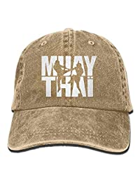 rouqianshangmao Muay Thai Box 2 Denim Hat Adjustable Male Stretch Baseball Caps