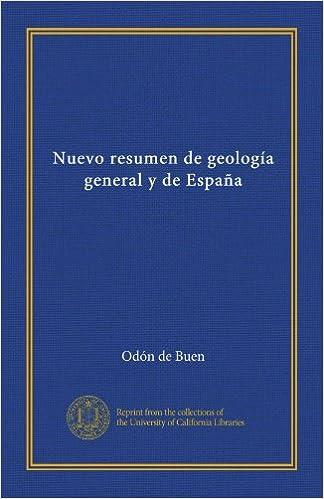 Nuevo Resumen de Geología General y de España.: Amazon.es: Odón de ...