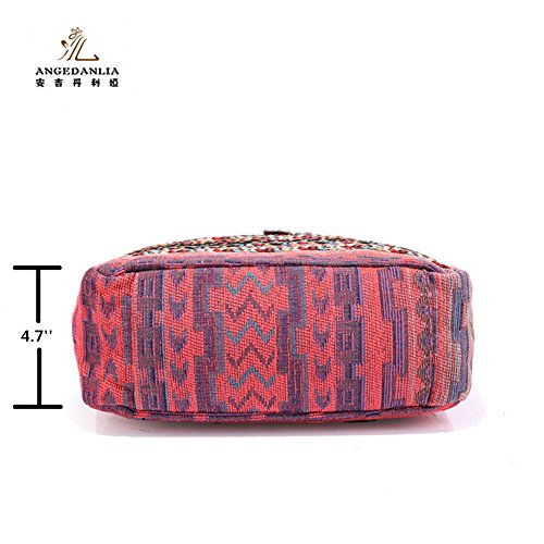Bag Hippie Pink Handmade Angedanlia Purse Bag Bag Bohemian Crossbody Chic Shoulder Sling 3717 ww0gU