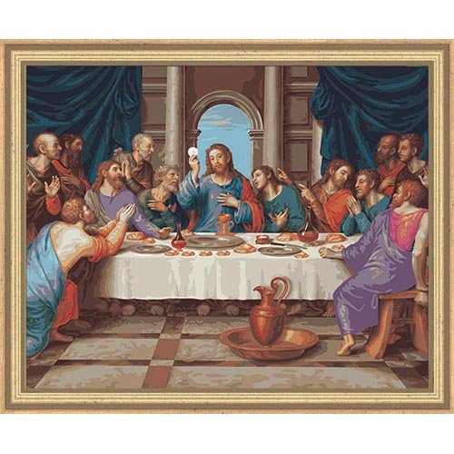 Plaid Creates Paint by Number Kit (16 by 20-Inch), 22038 The Last Supper by Plaid Creates