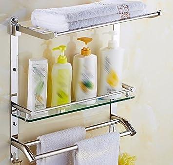 Baño colgador de tornillería de acero inoxidable 304, cuarto de ducha, estantería, rack