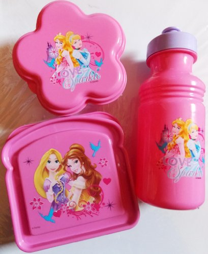 Exclusive Disney's Princess Love To Sparkle 3-Piece Lunch Box Set by Disney - Exclusive Water