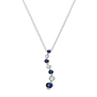 Amazon dazzlingrock collection 18k white gold round diamond amazon dazzlingrock collection 18k white gold round diamond blue sapphire ladies graduating journey pendant jewelry aloadofball Image collections