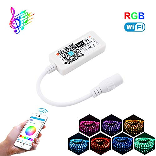 - YETAIDA Magic Home WiFi RGB Led Music Controller for 5050 2835 3528 Led Light Strip,Work with Google Assistant Alexa