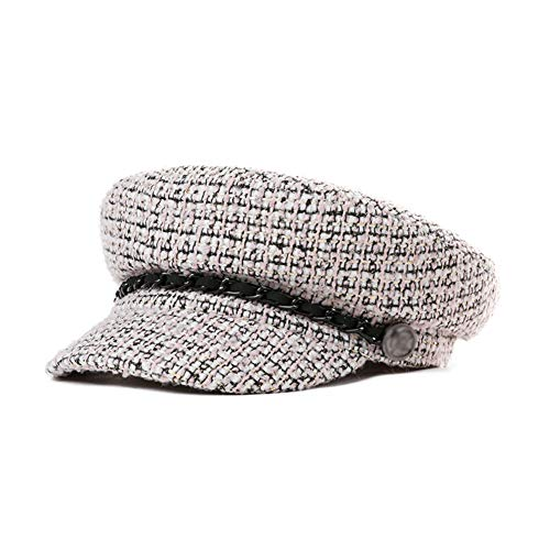 YXDDG Knitted Visor Beanie Womens Visor Beret Newsboy hat caps Suitable for Students, Dating, Parties, Dinners-Pink