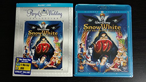 Snow White and the Seven Dwarfs - Royal Wedding Collection Slip Cover (Three-Disc Diamond Edition Blu-ray/DVD Combo + BD Live w/ Blu-ray packaging)