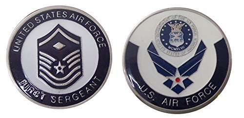 "Air Force ENLISTED RANKS - First Sergeant ""E7'' Challenge Coin / Logo Poker / Lucky Chip"