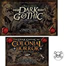 Bundle of Dark Gothic Base Game and the Colonial Horror Expansion plus One Bonus Skull and Crossbones Button