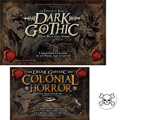Bundle of Dark Gothic Base Game and the Colonial Horror Expansion plus One Bonus Skull and Crossbones Button by Mixed