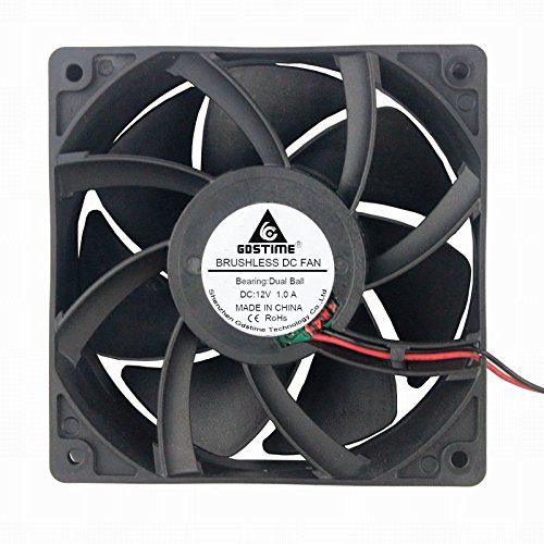 (GDSTIME Dual Ball Bearing Big Air Flow High Speed Preesure 4500rpm 12038 12cm 120mm X 38mm 5 Inch 12v Dc Cooling)