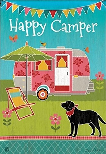Happy Camper Garden Flag made our list of gift ideas rv owners will be crazy about that make perfect rv gift ideas which are unique gifts for camper owners