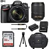 Nikon D7200 DSLR Camera (Wi-Fi) with Nikon AF-S DX NIKKOR 18-140mm f/3.5-5.6G ED VR Lens + 32GB Memory Card + Camera Carrying Bag + Tripod (Certified Refurbished)