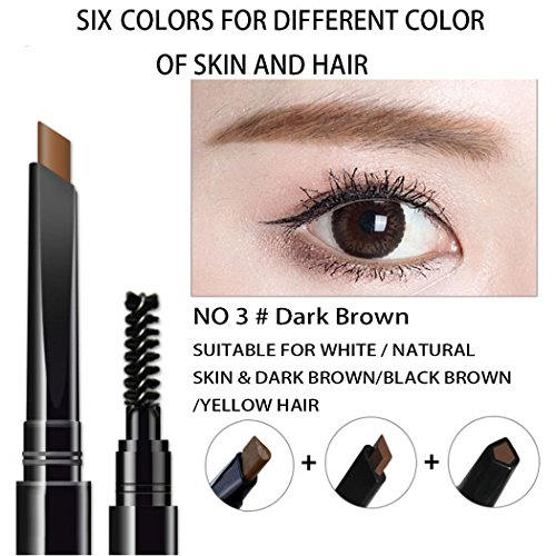 AFY Long lasting and Waterproof Professional Makeup Auto Eyebrow Pencil (No.3 Dark-brown)