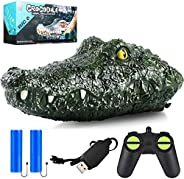 Remote Control Boat 2.4G High-Speed Simulation RC Boat Remote Control Crocodile Head Waterproof Prank Toys for