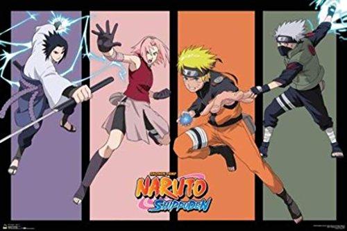 Scorpio Posters Naruto Team 7 Anime Poster 36x24 inch
