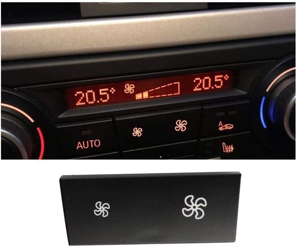 Color : Black Interruptor DE Mando del Coche Reparaci/ón de Control del acondicionador de Aire del Ventilador Bot/ón//Ajuste for BMW X1 1 Serie 3 Panel Calefactor clim/ático conmutador Cap