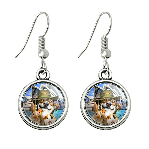 GRAPHICS & MORE Sydney Opera House Australia Dog Rabbit Guinea Pig Novelty Dangling Drop Charm Earrings -