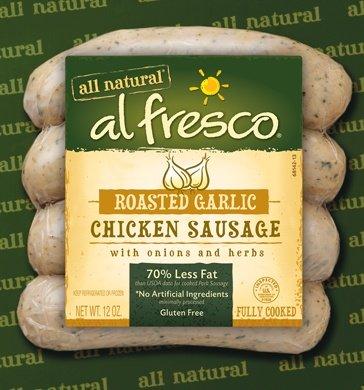 Al Fresco Roasted Garlic Chicken Sausage 12 Oz (4 (Roasted Sausage)