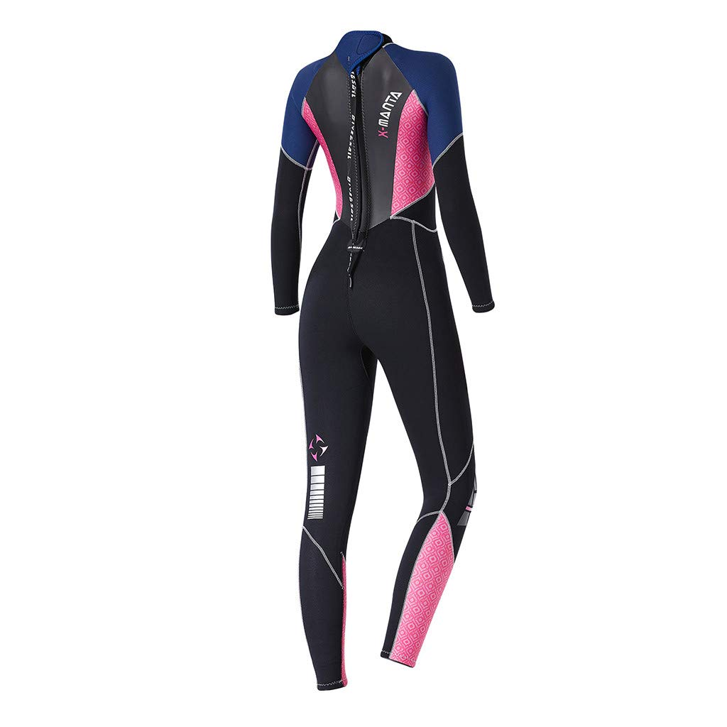Onegirl Women's Keep Warm Wetsuit Sunscreen Swimming Surfing and Snorkeling Diving Coverall Suit Black by Onegirl Swimsuit (Image #5)