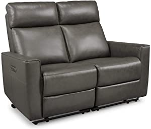 Homestyles by Flexsteel Nuova Leather Power Motion Reclining Love Seat