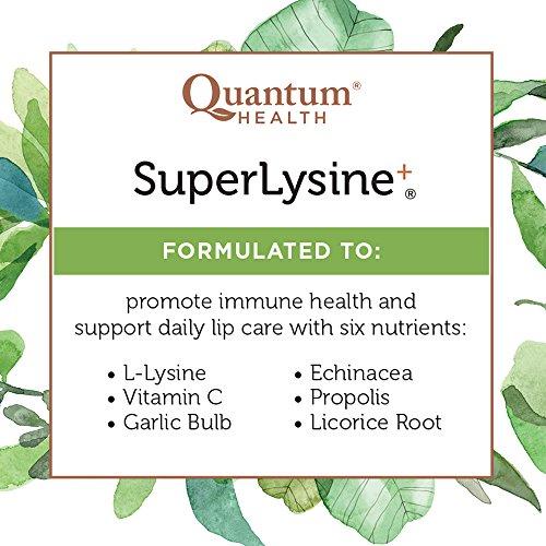Quantum Health Super Lysine+ / Advanced Formula Lysine+ Immune Support with Vitamin C, Echinacea, Licorice, Propolis, Odorless Garlic (180 Tablets) by Quantum (Image #8)