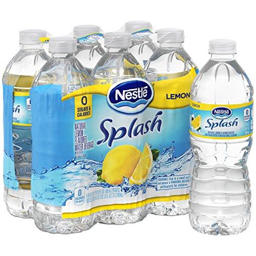 Nestle Pure Life Splash, Lemon, 16.9 Fluid Ounce (Pack of 6)