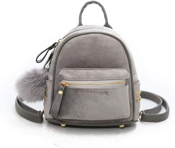 Huijunwenti The Girls Versatile Backpack is Perfect for Everyday Travel Travel Outdoor School Latest Models Fluffy Surface Fashion and Leisure Work Three Colors