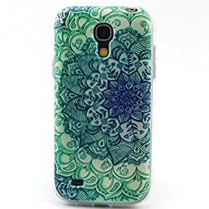 Galaxy S4 Case -, LUOLNH Green Flowers Pattern TPU Soft Back Snap On Case Cover Protector for For Samsung Galaxy S4 i9500 (Not for S4 Mini) by ruishername