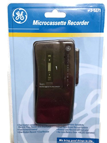 GE Microcassette Recorder, Model 3-5371