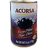 Acorsa Large Pitted Ripe Olives from Spain – Classic Olive Selection – 6oz
