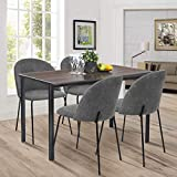 Aingoo Industrial Rectangular Dining Table Wooden