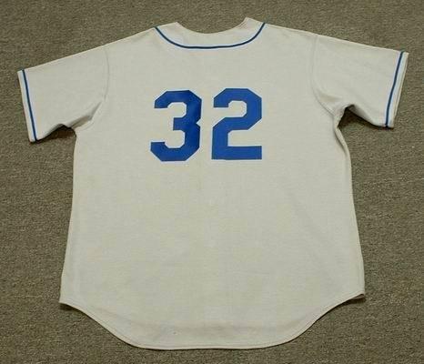 SANDY KOUFAX Brooklyn Dodgers 1955 Majestic Cooperstown Throwback Away Baseball Jersey, MEDIUM
