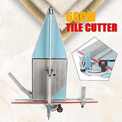 Tile Cutter Tool, Ceramic Cutting Machine, Desktop Manual Pull Handle Cutting Length 60cm, Ceramic Floor Tiles Tile Cutter Machine, 0~45°Adjustable Angle for Precision Cutting