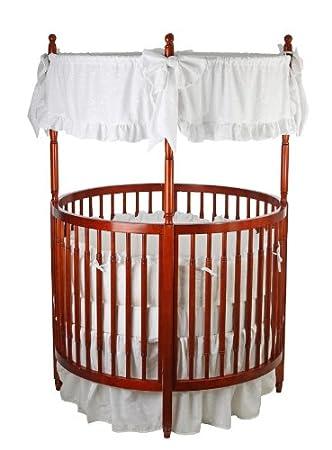 Amazon Com Dream On Me Sophia Posh Circular Crib Cherry Baby